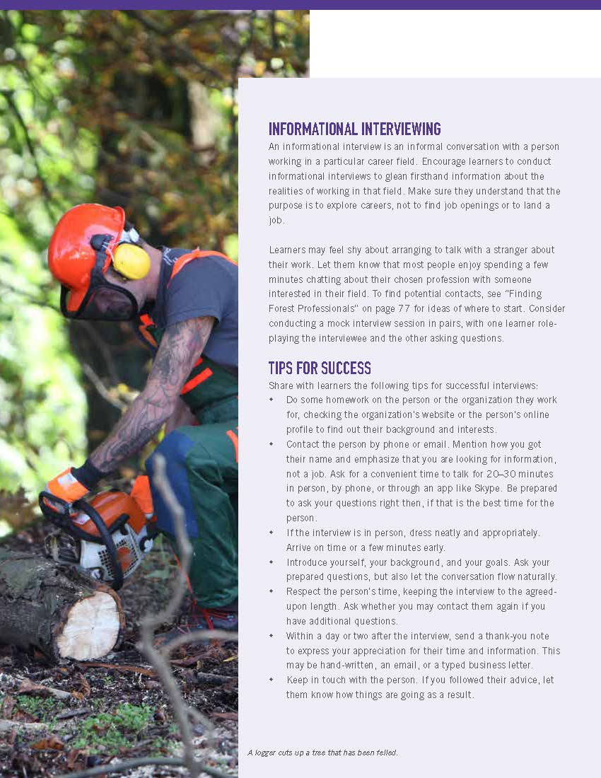 Green Jobs: Exploring Forest Careers